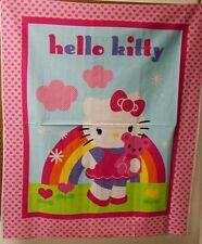 "1 Hello Kitty ""Rainbow"" Wallhanging/Lap Quilt Panel  Fabric"