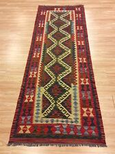 Real Afghan Handmade Tribal Nomadic Chobi Wool Kilim Rug Runner 88x252cm 50 off