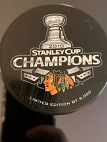 Chicago Blackhawks 2010 Stanley Cup Champions Limited Edition Puck