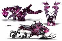 Snowmobile Graphics Kit Decal Sticker Wrap For Polaris Axys SKS 15-16 SWIFT PINK