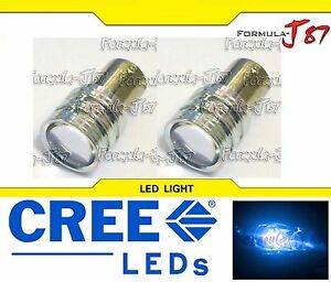 LED Light 5W PY21W Blue 10000K Two Bulbs Front Turn Signal Replacement Show Use