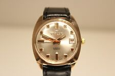 "VINTAGE BELLA Placcato Oro Swiss MEN'S HAND WIND UP WATCH ""VIALUX"" super 21 J."