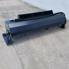 "72"" Skid Steer Hydraulic Heavy Duty Rotary Tiller Soil Conditioner Attachment"
