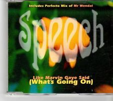(FM348) Speech, Like Marvin Gaye Said (What's Going On) - 1996 CD