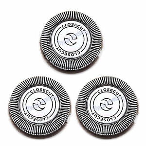 3 x Shaver Razor Blades Heads Replacement for Philips HQ3 HQ4 HQ55 HQ56 HQ6405
