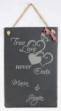 Schiefertafel True Love 20x30 Hochzeit Deko Wandtafel Geschenk Schieferplatte