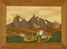 Pyrenean Village: Traditional beginner Marquetry Craft Kit by Cove Workshop