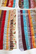 Handmade Silk Sari Recycled Scarves Stoles Patchwork scarf Multicolored