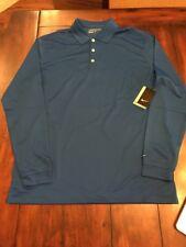 NWT Nike Golf Long Sleeve Dri-FIT Stretch Tech Polo 604940 490 Blue XXXXL 4XL