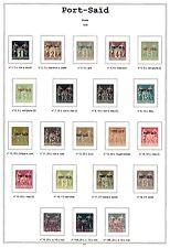 Album Port Saïd en couleur avec pochettes. Pas de timbres. No stamps.