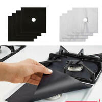 4pcs Kitchen Gas Stove Top Burner Reusable Protector Liner Cleaning Pad Cover d