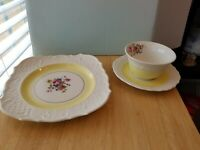 3 pc Place Setting By Canonsburg Coffee, Tea, Luncheon, Dessert, Bridge Set
