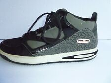 PHAT FARM Classic Athletic Basketball Sneakers Shoes~Black/White/Gray US size 12