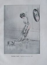 Louis Icart: Peinlicher Unfall - Originaldruck aus 1930 Reproduktion