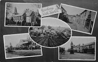 POSTCARD DEVON  NORTH TAWTON  GREETINGS Including Railway Station  Circa 1911 RP