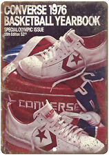 """1976 Converse Basketball Yearbook RARE 10"""" x 7"""" Reproduction Metal Sign"""