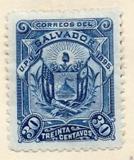Salvador 1895 Early Issue Fine Mint Hinged 30c. 162549