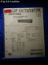 Sony Service Manual CDP XB720 /XB720E CD Player (#4178)