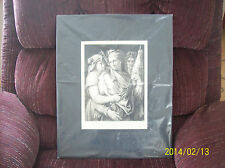 The Fates Black & White Etching by Helene Formstecher  By Gebbie & Co 1888