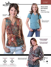 Jalie Criss-Cross Knit Tops Girls, Women, Maternity, Nursing Sewing Pattern 2787