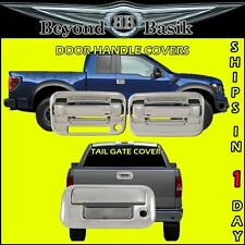 2004-2014 FORD F150 Chrome 2 Door Handle Covers 1KH W/Keypad+Tail Gate W/Keyhole