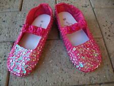 Girls Dark Pink Fairy Glitter Shoes  Size 6 (24)