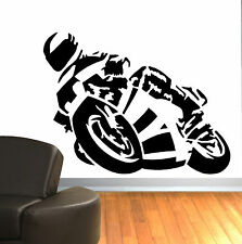 SUPERBIKE MOTORBIKE CBR R6 GSXR R1 ZZR ZXR WALL ART DECAL GRAPHIC STICKER 57X75
