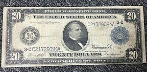 1914 $20 FEDERAL RESERVE NOTE PHILADELPHIA DISTRICT