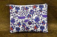 Floral Printed Clutch Bag Indian Wallet Bags Cotton Boho Bohemian Purse Bags