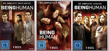 12 DVDs * BEING HUMAN - STAFFEL / SEASON 1 + 2 + 3 IM SET # NEU OVP $