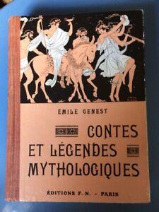 Contes et légendes mythologiques - Emile Genest - Ed Fernand Nathan 1942 - TBE