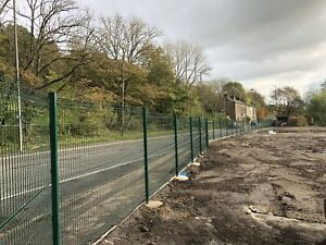 2.4m High v mesh security fencing Supplied And Installed Per Meter