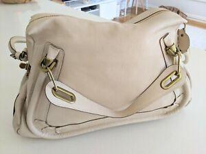 Chloe •Paraty Medium Shoulder Bag• Flannel (Beige)