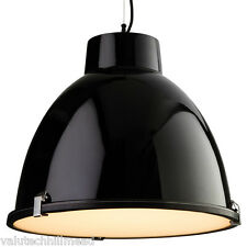Firstlight Manhattan 1 Light Bowl Pendant, Black