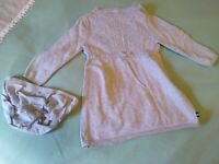 Baby Infant Girls Nautica Gray Sweater Dress & Bloomers, Size 12 mo