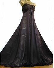 MONSOON ✩ STUNNING VENUS CLEMENTINE BROWN SILK MAXI EVENING DRESS ✩ UK 12 ✩