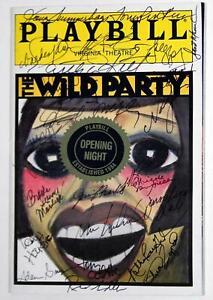 WILD PARTY Full Broadway Cast Eartha Kitt, Mandy Patinkin Signed Playbill