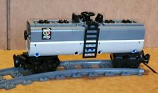 "LEGO TRAIN DARK GRAY/LIGHT GRAY CUSTOM TANKER CAR 9"" long MOC/RC/9V/CITY/TOWN"