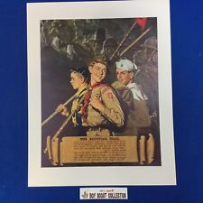 "Boy Scout Norman Rockwell Print 11""x14"" The Scouting Trail"