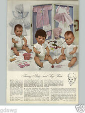 1950 PAPER AD Doll Tiny Tears American Character First Year Lambskin Hair Molded