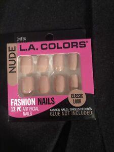 LA Colors 12 PC Fashion Nails - Nude