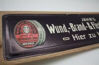 Jahns Salben - altes Pappschild Reklameschild Werbeschild D um 1930