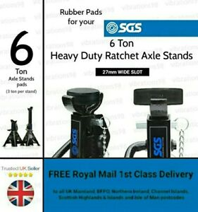2x Rubber Protection Pads for your 6 Ton SGS Axle Stands (3 Ton per stand)