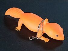 Leopard Gecko Orange Squishy Keychain #Lcps Leo Reptile Lizard Toy