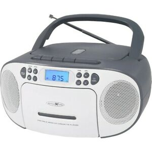 REFLEXION CD-Player mit Kassette und Radio für Netz- und Batteriebetrieb (PLL UK