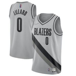 Portland Trail  Mens Earned Edition Swingman Jersey - Damian Lillard #0