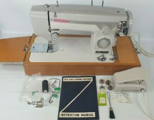 NECCHI Sewline 20 Quality Vintage Electric ZigZag Sewing Machine Pedal + Manual
