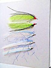 "5) Streamers Flies- 3) 5 1/2"" White & 2) 4 1/2"" Green Flies"