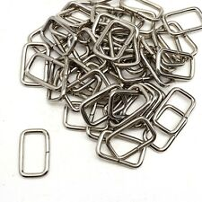 "50 pc Lot Rectangle Ring Formed Loop Leather Craft Strap Keeper 3/4"" x 3/8"""