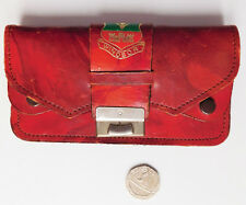 Vintage ladies red coin purse Hillcrest Leather Coat of arms Windsor Berkshire
